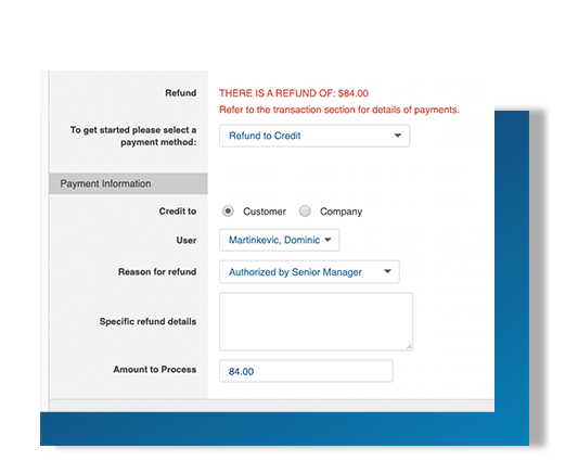 Customer credit feature for your online booking engine