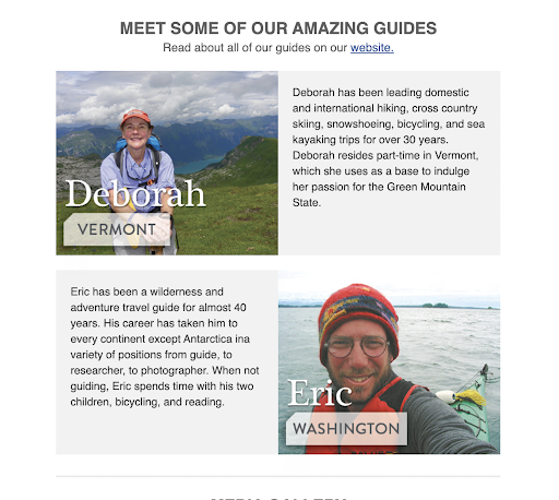 A sample for guide introduction email