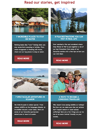 Sample blog promotion using email